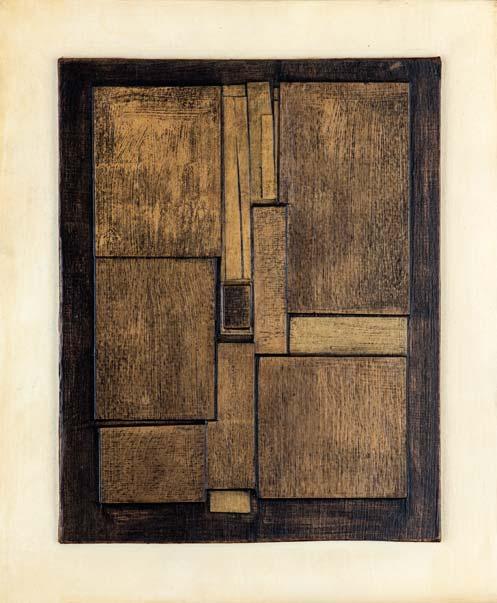 "Ledge | 8"" x 10"", collage on masonite, 1967"
