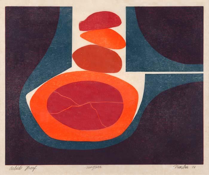Roger Martin, Magna, 15 x 12, woodcut, 1973