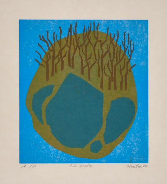 P.C. Woods   woodcut, 1972