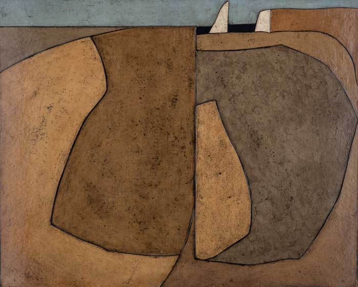 Roger Martin, Shore, 32 x 26, collage on masonite, 1967
