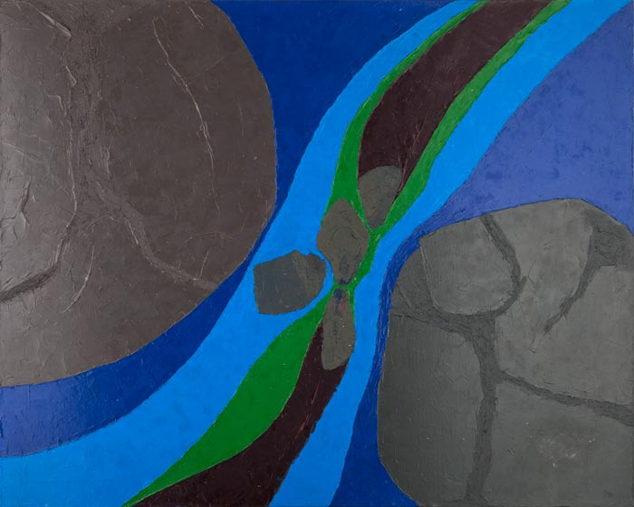 "Undercurrent | 50"" x 40"", oil paint on canvas, 1979"
